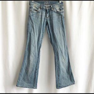 Mavi light wash flared jeans